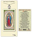 Pewter Our Lady of Guadalupe Medal with Laminated Holy Prayer Card