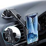 Andobil 車載ホルダー 2020年最新作 スマホホルダー ハニカムシリコンパネル より保護と滑り止め製 吸盤&エアコン口両用 iPhone/SamSung/Sony/Huawei/Oneplus/Xiaomi など 多機種対応