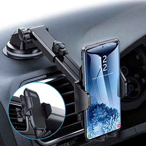 andobil Car Phone Mount, Strong Aviation Plastic, Phone Holder for Car Dashboard Super Suction Cup Compatible with iPhone, Samsung and More