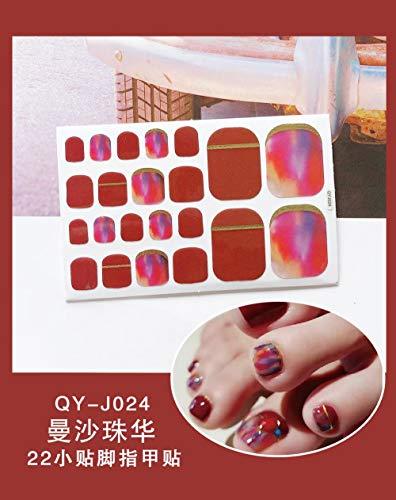 BGPOM Foot Stickers Nail Stickers Nail Stickers Fully Waterproof Lasting 3D Toenail Stickers Patch 10 Sheets/Set,Mansha Zhuhua (QY-J024)