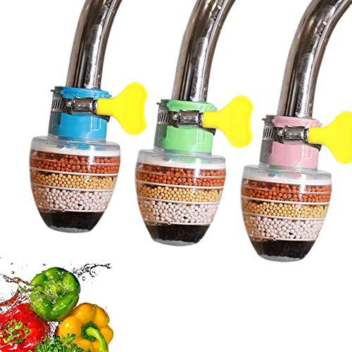 XM-ZHHY Aktivkohle Wasserhahn, 3 Stück Clean Purifier Filter Patrone Wasserhahn, Upgrade Universal Interface Wasserhahn Filter (6-Schicht-Filtration)