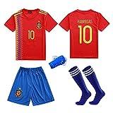 LQsy Ropa Deportiva De Fútbol, Adecuada para Niños, Conjunto De Partidos, Equipo De España 10# Jersey
