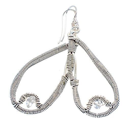 Ana Silver Co Rainbow Moonstone 925 Sterling Silver Earrings 2 1/4'