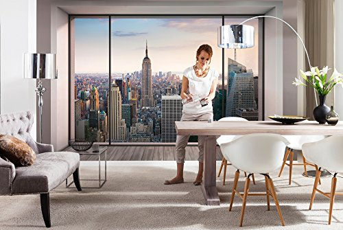 Komar - fotobehang PENTHOUSE - 368 x 254 cm - behang, muurdecoratie, muurbehang, Skyline, New York, Manhatten - 8-916