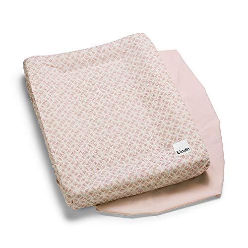 Elodie Details Wickelauflagen Bezug (2 Stücke) Universell auf 100% Oeko-Tex Baumwolle 74 x 48 cm - Sweet Date, Pink