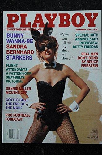 PLAYBOY US 1992 09 INTERVIEW BETTY FRIEDAN BUNNY WANNA-BE SANDRA BERNHARD STARKERS DENNIS MILLER Morena Corwin