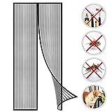 GOUDU Zanzariera Magnetica Zanzariere su Misura per Porta Chiudi Automaticamente per Porte di Soggiorno Camera da Letto Casa - Nero 100x225cm(39x88inch)