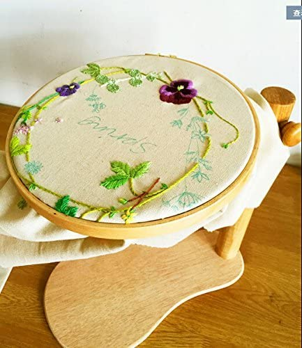 Max 51% OFF BWRMHME shopping Embroidery Frame with Round Hoop Embroi Wooden 11.02Inch