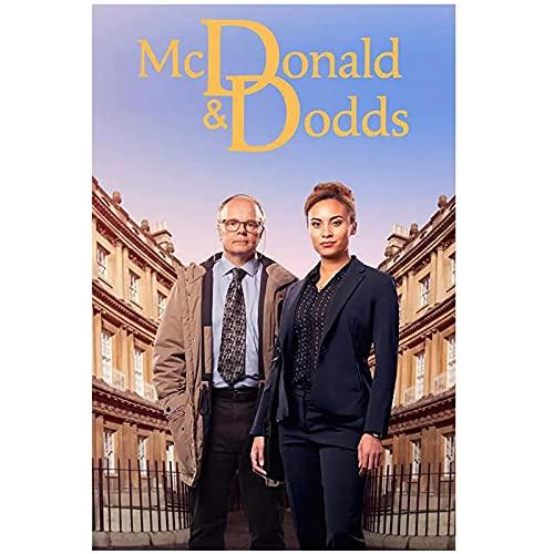 McDonald & Dodds Seizoen 2 (2021) Movie Cover Poster Canvas Print Wall Art Decoration Picture Modern Room Decor-20×28…