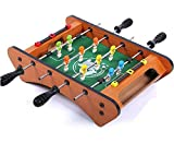 YLJYJ Mesa de futbolín para niños, construcción de Madera Duradera con contadores de porterías deslizantes, Juegos de Mesa de Arcade para niños para Dos Personas (Juegos de Escritorio)