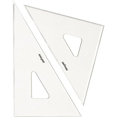 ドラパス 三角定規 目盛なし 3mm厚 45cm 13036