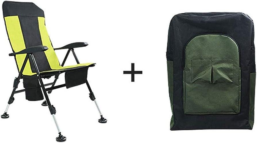 Portable chaises Pliantes Pique-Nique en Plein air Barbecue pêche Camping Chaise siège Oxford siège en Tissu léger pour (Couleur   B)