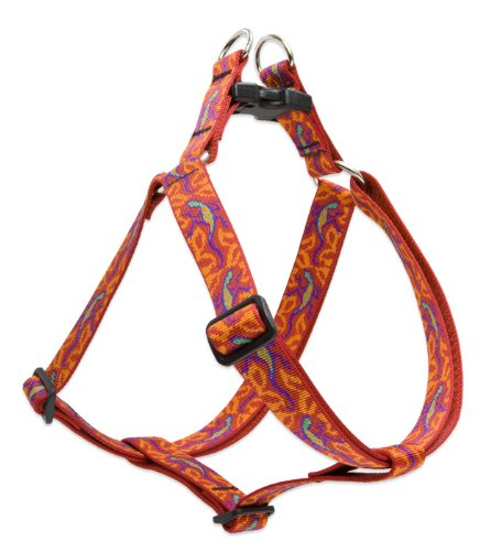 LupinePet Originals 1' Go Go Gecko 24-38' Step In Harness for Large Dogs