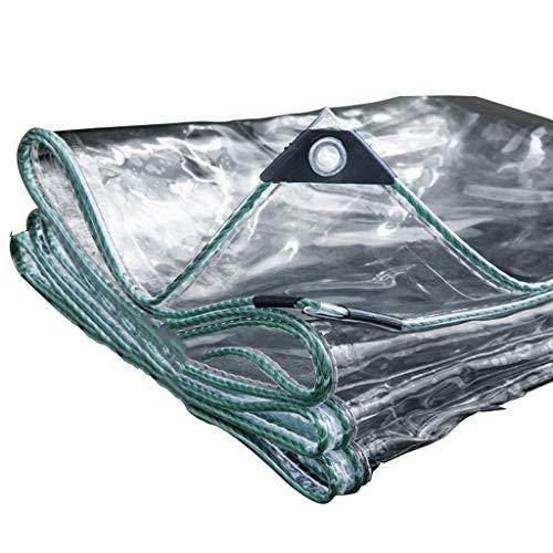 QMMD Transparent Tarpaulin 100% wasserdichte Planen, 0.5MM Verdicken Poncho Verdickung Poncho Wasserstoff Balkon Obdach Poncho Isolierung 300G / Quadratmeter,3M*4