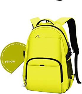 WUNONG-AU Water-Repellent Bag,Travel Backpack,College Stylish Daypack School Laptop Backpack 16 Inch Computer Backpack (Color : Yellow, Size : L)