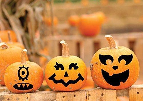 Amazon Com Thanksgiving Fall Decor Funny Faces Vinyl Decal Pumpkin Decorations Halloween Fun Jack O Lantern Art Handmade