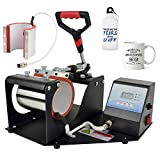 2 in 1 Digital Heat Press Machine Heat Transfer Sublimation Print MachineMug/8oz Mug/Sports Bottle (2 in 1 Mug Press)
