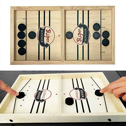 Fast Sling Puck bordspel, kinderen Paced Sling Puck Winner bordspellen, houten tafelblad met meerdere Indoor Portable Board Games