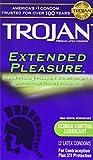 Trojan Extended Pleasure Condoms 12 Retail Box