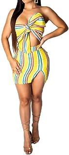 VITryst 女性のボックスチェストラップ2ピーススキニーセクシースカートセット