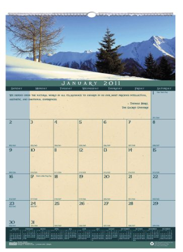 House of Doolittle 362 Landscapes Monthly Wall Calendar, 12 x 16-1/2, 2016