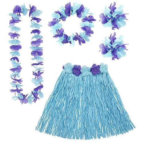 Widmann Kit hawaïen Bleu et Violet Adulte Taille Unique