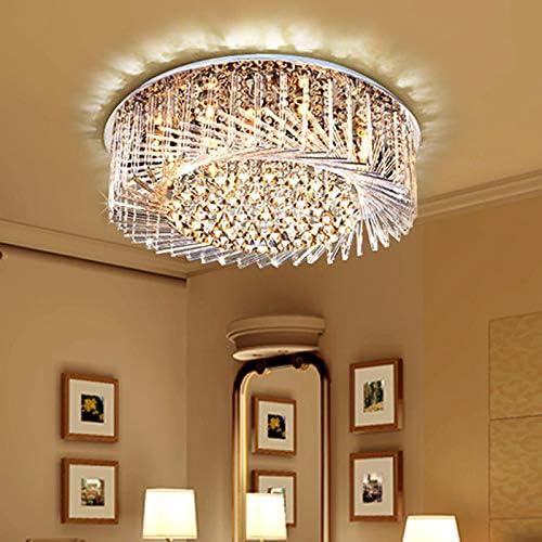 LITFAD Luxury Swirl Ranking TOP17 Crystal Glass Mount Fixt Ceiling Flush Max 56% OFF Light