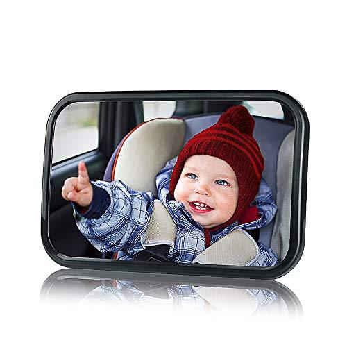 ZXYSR Baby Spiegel Rücksitzspiegel Für Babys,Babyschalenspiegel Rückspiegel Für Babyschalen Drehbar, 360° Schwenkbar, Autospiegel in Optimaler Größe