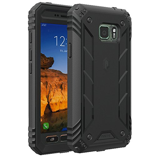 Galaxy S7 Active Case, POETIC Revolution Series [Premium Rugged][Shock Absorption & Dust Resistant] Complete Protection Hybrid Case w/Built-in Screen Protector for Samsung Galaxy S7 Active Black