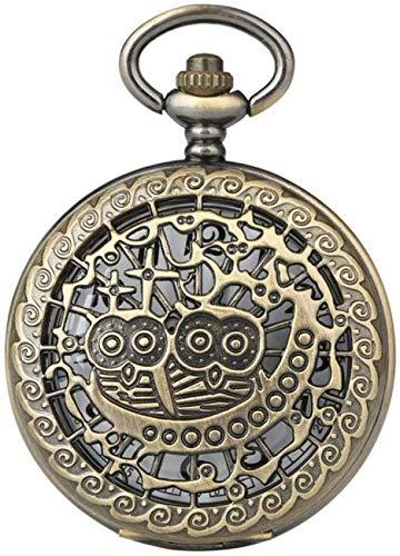 AZDS Reloj de Bolsillo Reloj de Bolsillo Creativo Hombres Cuarzo Deporte Estuche con patrón Hueco único Relojes de Bolsillo Tema de Mujer para My Son Relojes Reloj