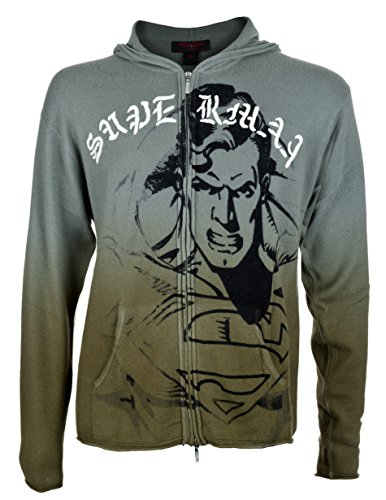 DC COMIC by RAW 7 Special Edition Superman Men's Cashmere Zip Hoodie