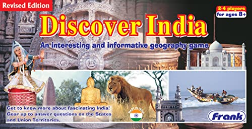 Frank - 22110 Discover India Board Game For 8 Year Old Kids And Above