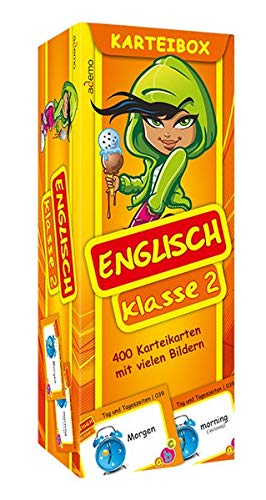 Karteibox Englisch Klasse 2: mit farbigen Karteikarten