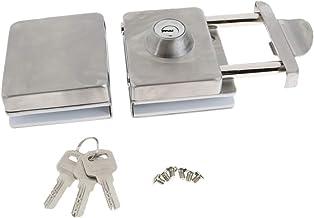 Blesiya Metalen Deurslot voor 10-12 Mm Dikke Glazen Deur/Glazen Schuifdeur Incl. Sleutel- En Montagegereedschap Poortslot