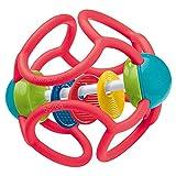 Ravensburger ministeps 4151 baliba Rasselball - Flexibler Greifling, Beißring und Babyrassel - Baby Spielzeug ab 3 Monate - rot