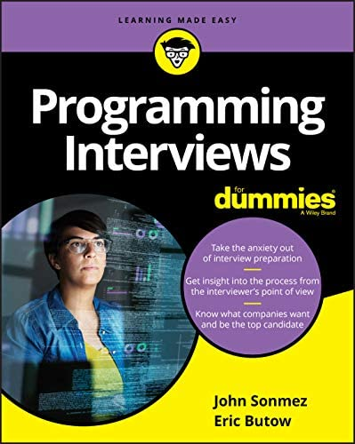 Programming Interviews For Dummies For Dummies Computer Tech product image