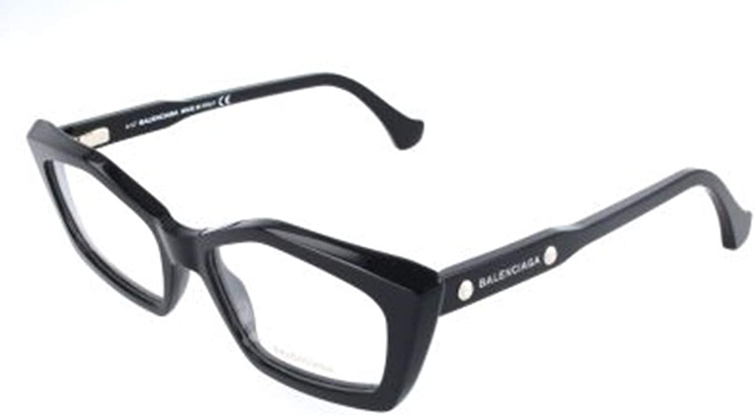 Balenciaga  BA5043, Geometric, acetate, women, BLACK(001 B), 52 17 140