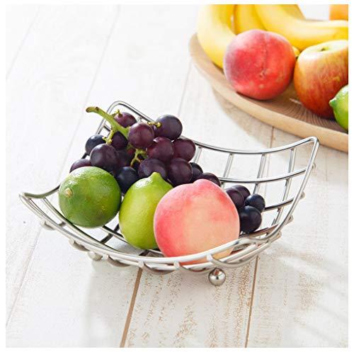 77SRF Square Modern Quality Fruit Vegetable Bowl Basket Nest Metal Wire Lattice Kitchen Rack 77 (Size : YCTFKKF)