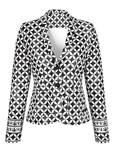 Alba Moda Damen Blazer Grau 40 Baumwolle