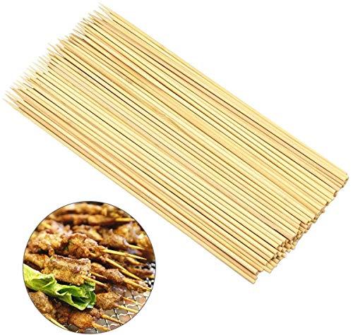 Dokpav Bambusspieße, 100 Stück Schaschlikspieße Holz, Spieße BBQ, 25cm x 3mm