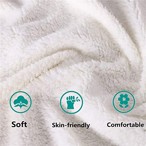 Soft Blanket Sherpa Throw Blanket for Bed and Couch 3D Printed Quilted Blankets for Kids and Adults Soft Fluffy Fleece Blanket Bedding (Style5, 150cm x 200cm(59'' x 79''))