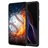 Galaxy A10E Case, AIRWEE Slim Shockproof Silicone TPU Back Protective Cover Case for Samsung Galaxy A10E,Ice and Fire Football Baseball