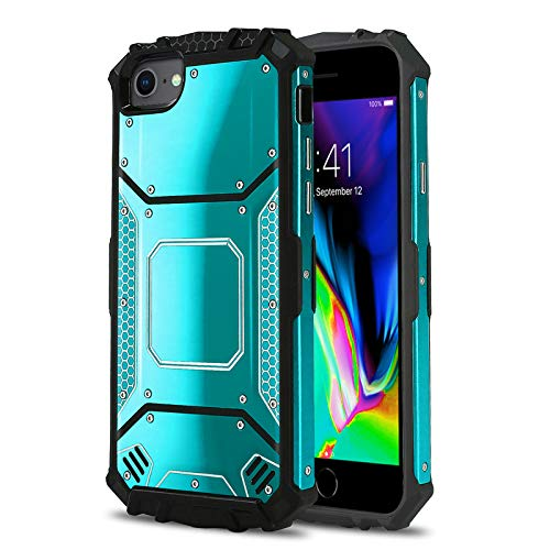 CasemartUSA Phone Case for [Apple iPhone 6 / 6s / 7 / 7s / 8 (4.7 inch)], [Alloy Series][Blue] Aluminium [Metal Plate] Military Grade Shockproof Heavy Duty Cover for iPhone 6, 6s, 7, 7s, 8