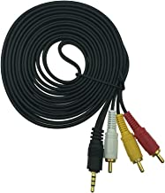 DONG 3.5mm to 3 RCA Audio Video Cable,3.5mm to 3RCA 1/8