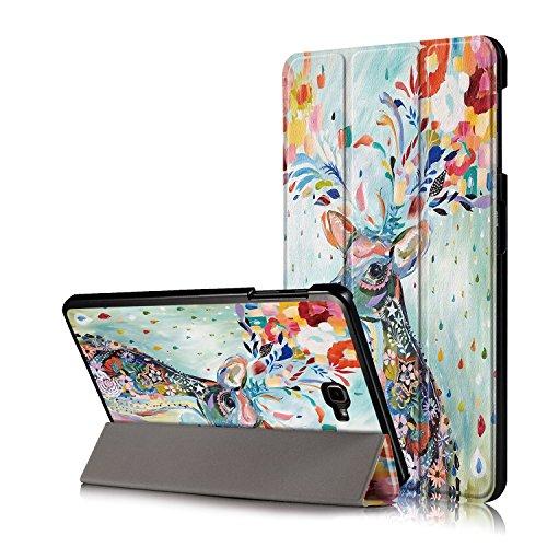 Xuanbeier Funda Compatible con Samsung Galaxy Tab A 10.1 SM-T580 T585 (Tab A6) con Soporte Función Auto-Sueño/Estela,Ciervo