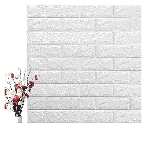 HYCSP Self Adhesive Wasserdicht Hintergrund Brick Tapeten-Wand-Aufkleber Wohnzimmer Tapeten Wandbild Schlafzimmer Dekorative (Color : Pearl White, Size : 70cm x7cm)