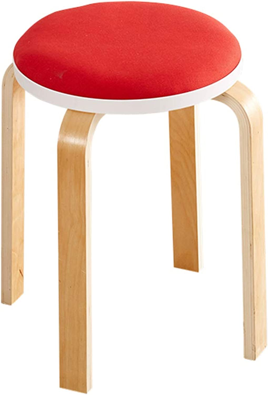 Stools Stools Solid Wood Stools Environmental Predection Reinforced Anti-Slip Stools Fashion Creative Living Room Home Stools (color   Red, Size   45  32  32cm)