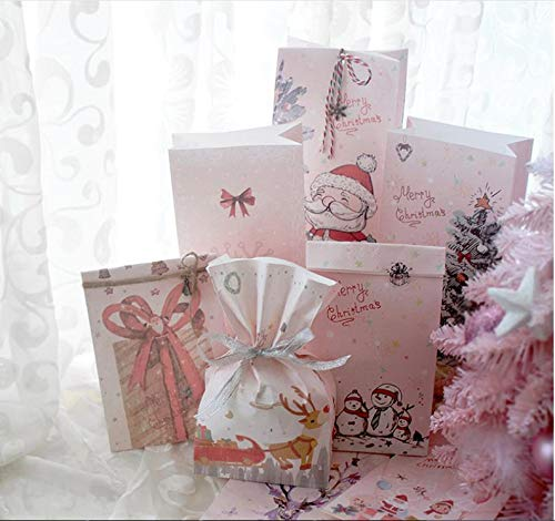 Christmas Gift Bags, Cute Printed Holiday Bags for Party Favor Gift