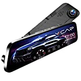 VVCAR 12' Mirror Dash Cam 1296P Backup Camera with GPS Touch Screen Front and Rear View Dual Lens Full HD WDR,Night Vision, G-Sensor for Cars/Trucks