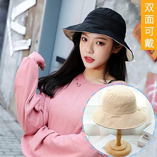 YPORE Hutdame-Fischerhut Japanischer Wilder Sunhat Sonnenschutz-Sonnenhut Im Freien Doppelseitige Baumwolllampenkappe Kaufen Sie 2 Stück